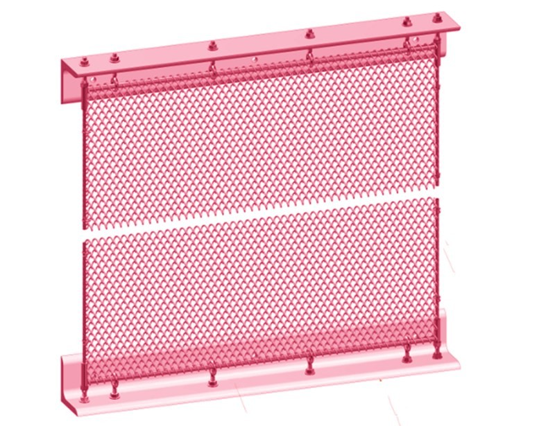 Metal Curtain Space Partition Install System