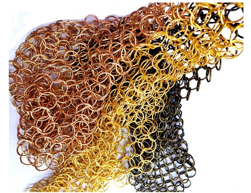 PVD Chain Mail Ring Mesh